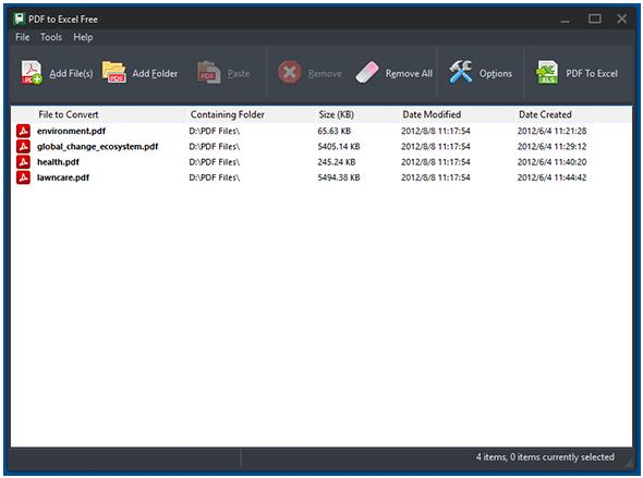 Input FDF Files